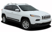 2013, 2014, 2015, 2016, 2017, 2018, 2019, 2020, 2021 Jeep Cherokee Lower Rocker Vinyl Graphics Decal Stripe BRAVE Vinyl Graphics Kit! Engineered specifically for the new Jeep Cherokee, this kit will give you a factory OEM upgrade look at a discount price! Pre-trimmed sections ready to install! Fits Jeep Cherokee Lower Side Rocker Panels . . .