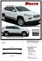 BRAVE : 2013, 2014, 2015, 2016, 2017, 2018, 2019, 2020 Jeep Cherokee Lower Rocker Vinyl Graphics Decal Stripe Kit - Details