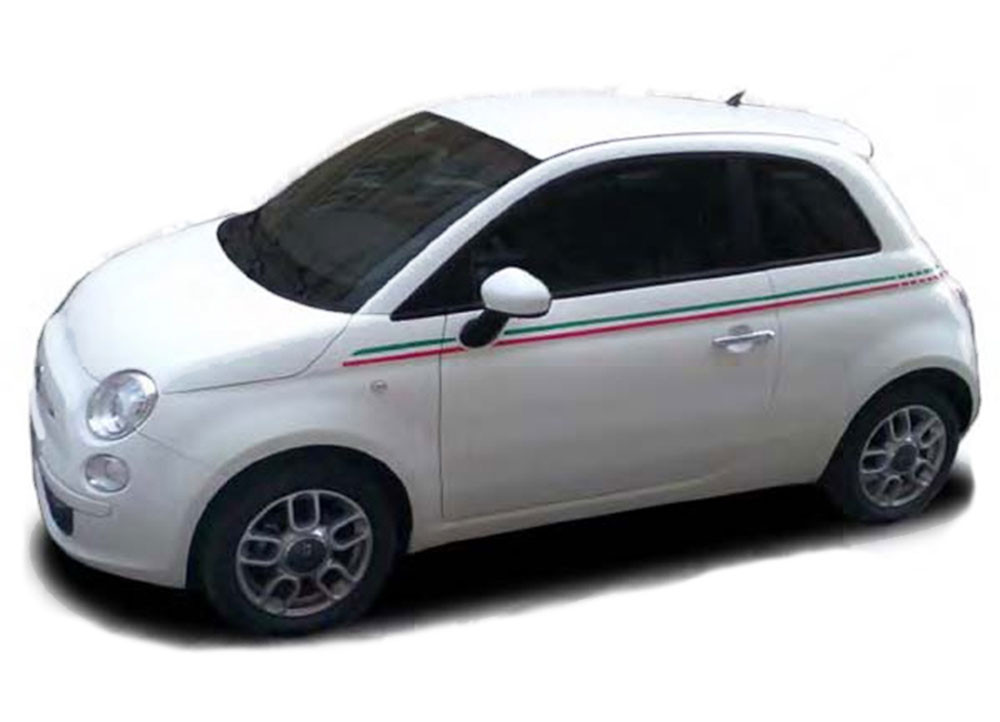 Se 5 Italian Stripe Fiat 500 Vinyl Graphics Kit Fiat 500 Abarth Vinyl Graphics