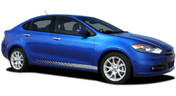 DASH : Lower Rocker Vinyl Stripes for Dodge Dart - Factory OEM Style Dodge Dart Lower Rocker Vinyl Graphics, Stripes and Decal Kit! Pre-trimmed sections ready to install, using only Premium Cast 3M, Avery, or Ritrama Vinyl!
