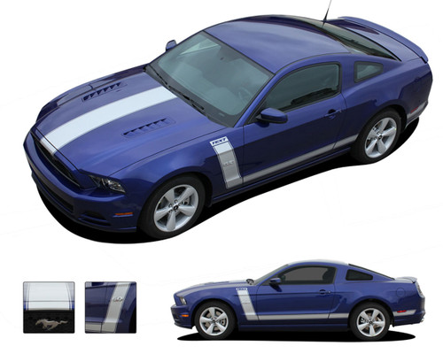 "PRIME 2 : Ford Mustang ""BOSS 302"" Style Vinyl Graphics Kit * NEW Vinyl Graphics Kit for the Ford Mustang! Factory Hockey Style without the factory cost! Gives a retro muscle car look that will turn heads and set your Mustang apart!"