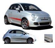 SE 5 ROCKER STROBES : Fiat 500 Vinyl Graphics Kit Fiat 500 Vinyl Graphics, Stripes and Decal Kit! Rocker Panel Kit, in 3 different styles! Pre-cut pieces ready to install, using only Premium Cast 3M, Avery, or Ritrama Vinyl!