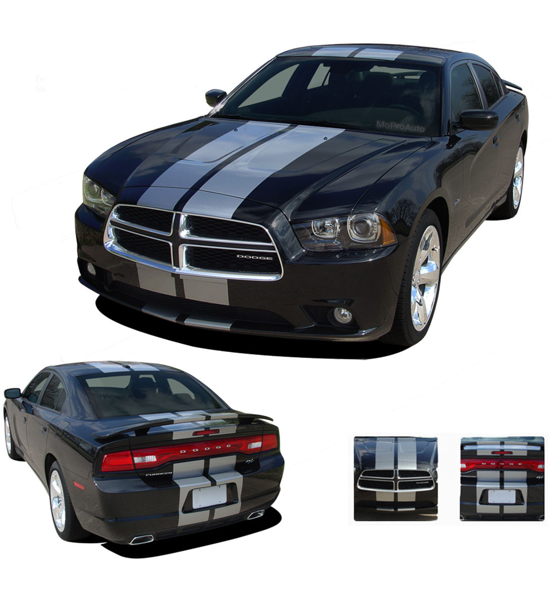 N Charge Rally Dodge Charger Racing Stripes Hood Stripe Bumper To Bumper Decal Kit Fits 2011 2014 Moproauto Professional Vinyl Graphics And Striping