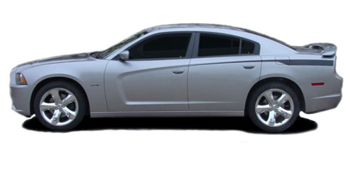 RECHARGE QUARTER PANELS : Vinyl Graphics Kit for Dodge Charger - Factory OEM Style Dodge Charger 2011-2014 Vinyl Graphics, Stripes and Decal Kit! Rear Quarter Panel Decals Included. Pre-cut pieces ready to install, using only Premium Cast 3M, Avery, or Ritrama Vinyl!