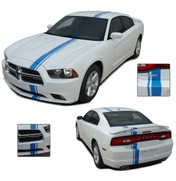 Cuda Upper Body Side Graphic Decal Stripes for Dodge Caliber 2007-2012