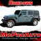RUNDOWN : Jeep Wrangler Hood to Fender Vinyl Graphics Decal Stripe Kit
