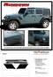 RUNDOWN : Jeep Wrangler Hood to Fender Vinyl Graphics Decal Stripe Kit - Full Description
