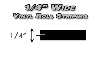 """1/4"""" x 150ft Professional Vinyl Solid Pin Striping Roll  Pro Grade Solid Color Vinyl Pin Striping Rolls Made Exclusively for the Automotive Market!"""