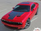 """Challenger HOOD : Factory OEM Style Vinyl Racing Stripes for 2015, 2016, 2017, 2018, 2019, 2020, 2021 Dodge Challenger! Factory """"OEM Style"""" Solid Racing Hood Stripes, Graphics, and Decal Set for the Dodge Challenger! Ready to install . . . A fantastic customization with graphics that fit, using only Premium Cast 3M, Avery, or Ritrama Vinyl!"""