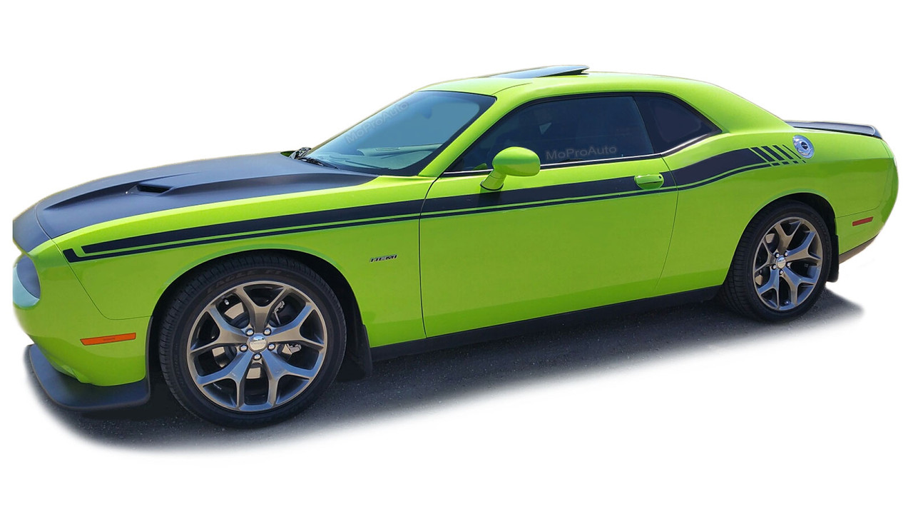 Dodge Challenger Door Stripes Dual 15 Vinyl Graphic Body Decals Strobe R T Kit Fits 2011 2020 Moproauto Professional Vinyl Graphics And Striping
