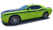 "Challenger DUAL 2 : Vinyl Graphics and Stripe Kit fits 2011, 2012, 2013, 2014, 2015, 2016, 2017, 2018, 2019, 2020, 2021 Dodge Challenger!  - DUAL 2 ""OEM"" Style Graphic, Decal and Stripe Package for the New Dodge Challenger! RT Decals Included! Ready to install . . . A fantastic customization that fits, using only Premium Cast 3M, Avery, or Ritrama Vinyl!"