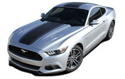 """MEDIAN : Ford Mustang Wide Center Lemans Style Racing and Rally Stripes Vinyl Graphics Kit! * NEW Vinyl Graphics Kit for the 2015 2016 2017 Ford Mustang! Factory Style Racing Stripes and Rally Kit, featuring Premium Grade Vinyl. The """"look"""" without the factory cost! Update your New Mustang today and start heads turning!"""