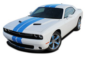 "Challenger RALLY 2 : Factory OEM Style Vinyl Graphic Racing Stripes for 2015, 2016, 2017, 2018, 2019, 2020 Dodge Challenger! Complete Factory ""OEM Style"" 10"" Wide Solid Racing Hood Stripes, Graphics, and Decal Set for the New Dodge Challenger! Ready to install . . . A fantastic customization with graphics that fit, using only Premium Cast 3M, Avery, or Ritrama Vinyl!"