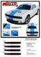 """Challenger RALLY 2 : Factory OEM Style Vinyl Graphic Racing Stripes for 2015, 2016, 2017, 2018, 2019, 2020, 2021 Dodge Challenger! Complete Factory """"OEM Style"""" 10"""" Wide Solid Racing Hood Stripes, Graphics, and Decal Set for the New Dodge Challenger! Ready to install  - Details"""