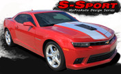 Chevy Camaro S-SPORT Factory Racing Stripe Vinyl Graphics Decal Kit! Engineered specifically for the new Camaro, this kit will give you a factory OEM upgrade look at a discount price! Pre-Cut pieces ready to install! Vinyl fits SS Models Only . . .
