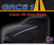2010-2013 Chevy Camaro SS Hood Spears Vinyl Stripe Kit (M-GRC51)