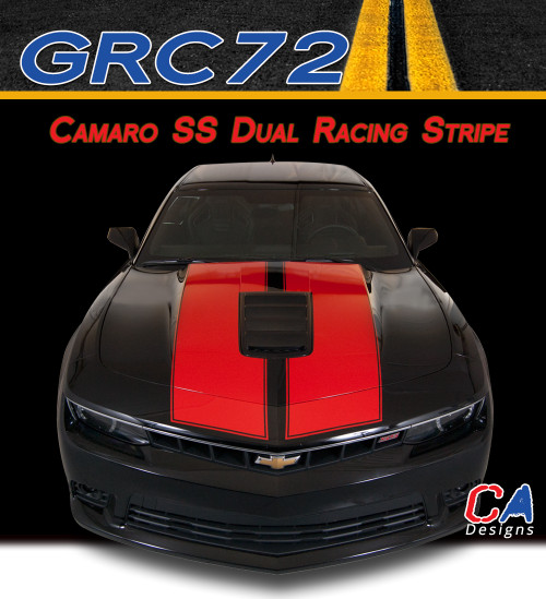 2014-2015 Chevy Camaro SS Dual Racing Vinyl Stripe Kit (M-GRC72)