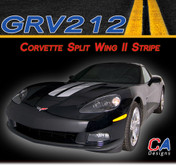 2005-2013 Chevy Corvette Split Wing II Vinyl Stripe Kit (M-GRV212)
