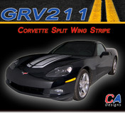 2005-2013 Chevy Corvette Split Wing Vinyl Stripe Kit (M-GRV211)