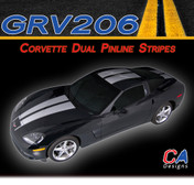2005-2013 Chevy Corvette Dual Pinline Racing Vinyl Stripe Kit (M-GRV206)