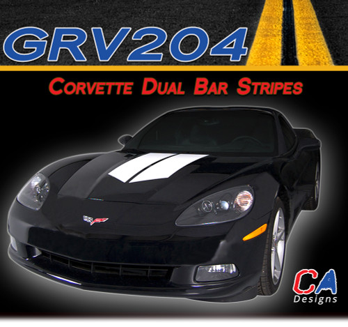 2005-2013 Chevy Corvette Dual Bar Racing Vinyl Stripe Kit (M-GRV204)