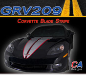 2005-2013 Chevy Corvette Blade Dual Color Rally Racing Vinyl Stripe Kit (GRV209)