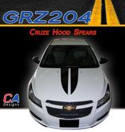 2011-2015 Chevy Cruze Hood Spears Vinyl Stripe Kit (M-GRZ204)