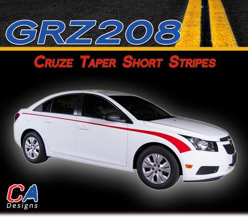 2011-2015 Chevy Cruze Taper Short Vinyl Stripe Kit (M-GRZ208)
