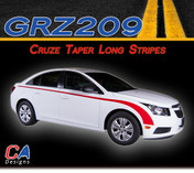 2011-2015 Chevy Cruze Taper Long Vinyl Stripe Kit (M-GRZ209)