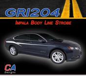 2014-2015 Chevy Impala Body Line Strobe Accent Vinyl Graphic Decal Stripe Kit (M-GRI204)