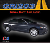 2014-2015 Chevy Impala Body Line Solid Accent Vinyl Graphic Decal Stripe Kit (M-GRI203)