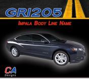 2014-2015 Chevy Impala Body Line Name Accent Vinyl Graphic Decal Stripe Kit (M-GRI205)