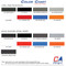 Custom Auto Designs - 2 Mil. High Performance or Avery Supreme Wrap Vinyl Color Chart