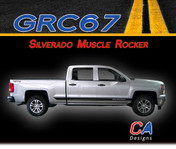 2014-2015 Chevy Silverado Muscle Rocker Vinyl Graphic Decal Stripe Kit (M-GRC67)
