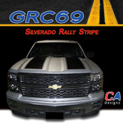 2014-2015 Chevy Silverado Rally Vinyl Graphic Decal Stripe Kit (M-GRC69)