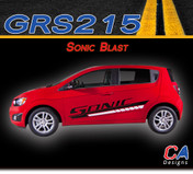 2012-2015 Chevy Sonic Blast Dual Color Vinyl Stripe Kit (GRS215)