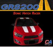 2012-2015 Chevy Sonic Hatch Racer Vinyl Stripe Kit (M-GRS200)