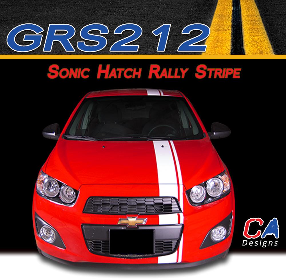 2012 2015 Chevy Sonic Hatch Rally Vinyl Stripe Kit