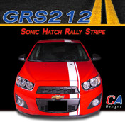 2012-2015 Chevy Sonic Hatch Rally Vinyl Stripe Kit (M-GRS212)