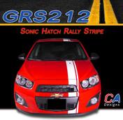 2012-2015 Chevy Sonic Hatch Rally Vinyl Stripe Kit (M-GRS212)