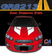 2012-2015 Chevy Sonic Dominator Vinyl Stripe Kit (M-GRS213)