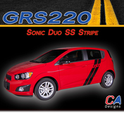 2012-2015 Chevy Sonic Duo SS Vinyl Stripe Kit (M-GRS220)