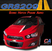 2012-2015 Chevy Sonic Hatch Phase Aero Vinyl Stripe Kits (M-GRS209)
