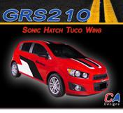 2012-2015 Chevy Sonic Hatch Tuco Wing Vinyl Stripe Kits (M-GRS210)