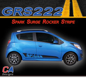 2013-2015 Chevy Spark Surge Rocker Vinyl Stripe Kit (M-GRS222)