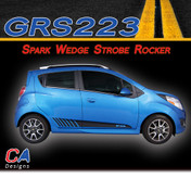 2013-2015 Chevy Spark Wedge Strobe Rocker Vinyl Stripe Kit (M-GRS223)