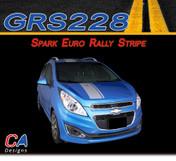 2013-2015 Chevy Spark Euro Rally Vinyl Stripe Kit (M-GRS228)