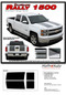 RALLY 1500 : 2014 2015 Chevy Silverado Vinyl Graphic Decal Stripe Kit . . . 2014 2015 Chevy Silverado Vinyl Graphics, Stripes and Decal Package! Ready to install. A fantastic addition to your new truck, using only Premium Cast 3M, Avery, or Ritrama Vinyl!
