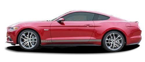 2015 2016 2017 2018 2019 STALLION ROCKER 1 : Ford Mustang Rocker Panel Stripes Vinyl Graphic Decals * NEW Ford Mustang Rocker Panel Stripes Kit! Give a modern muscle car look to your new Mustang that will set your ride apart! Professional Style 3M Vinyl Graphics Kit - Pre-Trimmed and Designed, Ready to Install! For Automotive Restylers and Dealers!
