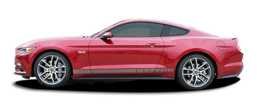2015 2016 2017 2018 2019 2020 2021 STALLION ROCKER 2 : Ford Mustang Strobe Rocker Panel Stripes Vinyl Graphic Decals * NEW Ford Mustang Rocker Panel Stripes Kit! Give a modern muscle car look to your new Mustang that will set your ride apart! Professional Style 3M Vinyl Graphics Kit - Pre-Trimmed and Designed, Ready to Install! For Automotive Restylers and Dealers!